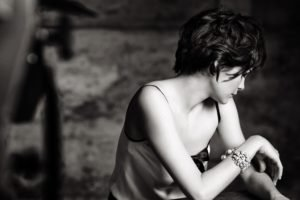 women, Audrey Tautou, Short hair, Actress, Monochrome, Face