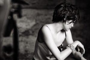 women, Audrey Tautou, Short hair, Actress, Monochrome, Face