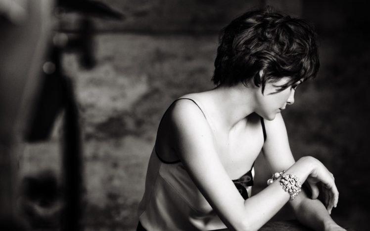 women, Audrey Tautou, Short hair, Actress, Monochrome, Face HD Wallpaper Desktop Background