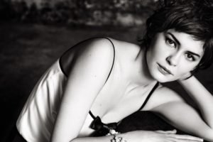 Audrey Tautou, Women, Actress, Monochrome, Short hair