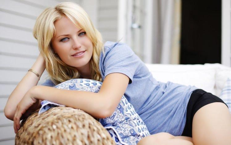 Malin Akerman, Blonde, Blue eyes, Women HD Wallpaper Desktop Background