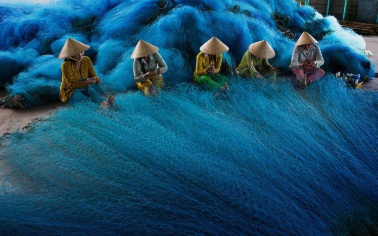 Women Vietnamese Vietnam Fishing Fishing Nets Hd Wallpapers Desktop And Mobile Images Photos