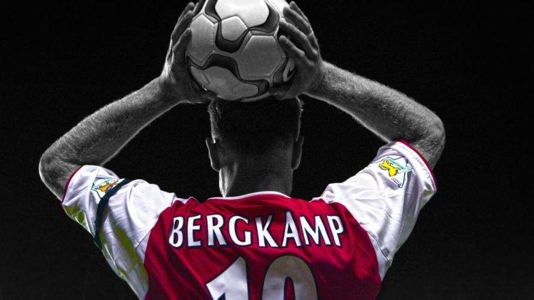 Dennis Bergkamp, Footballers, Arsenal Fc, Selective coloring HD Wallpaper Desktop Background