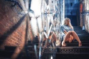 stairs, Women, Model