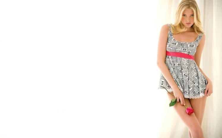 model, Women, Flowers, Rose, Blonde HD Wallpaper Desktop Background