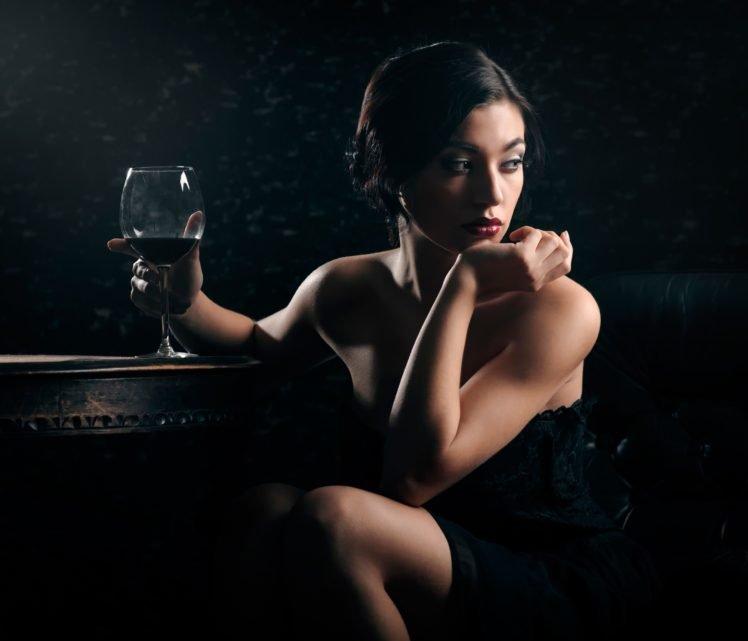 women, Model, Brunette HD Wallpaper Desktop Background