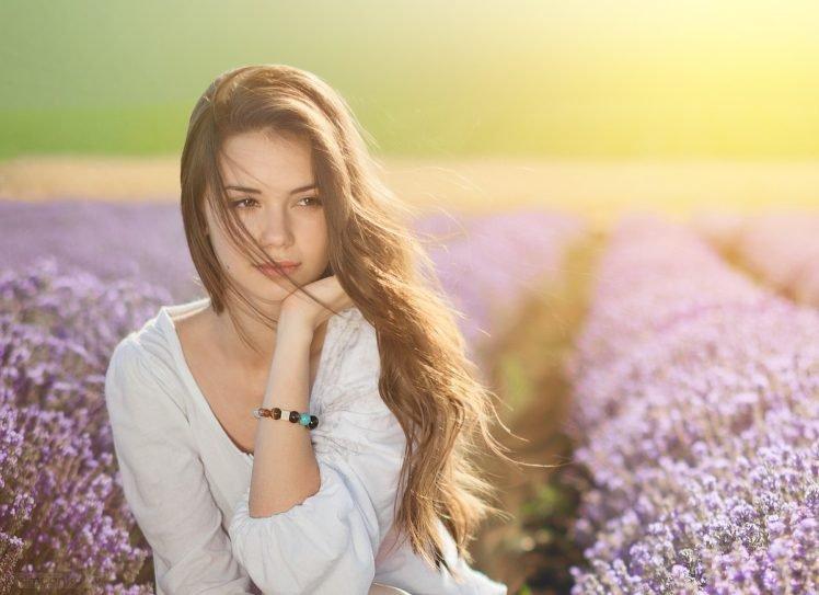 Radina, Brunette, Women, Model, Bracelets HD Wallpaper Desktop Background