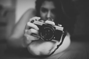 women, Brunette, Model, Long hair, Camera, Monochrome, Hi Tech