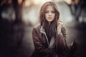 women, Brunette, Model, Long hair, Ksenia Malinina, Jacket