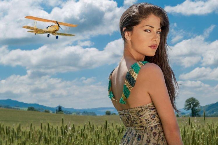 women, Model, Brunette, Women outdoors, Nature HD Wallpaper Desktop Background