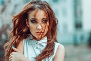 Alla Berger, Georgiy Chernyadyev, Women, Redhead, Model