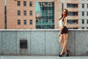 Georgiy Chernyadyev, Women, Model, Redhead, High heels, Tattoo, Alla Berger