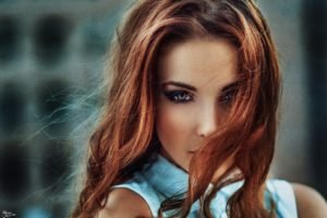 Alla Berger, Georgiy Chernyadyev, Women, Redhead, Model, Airbrushed