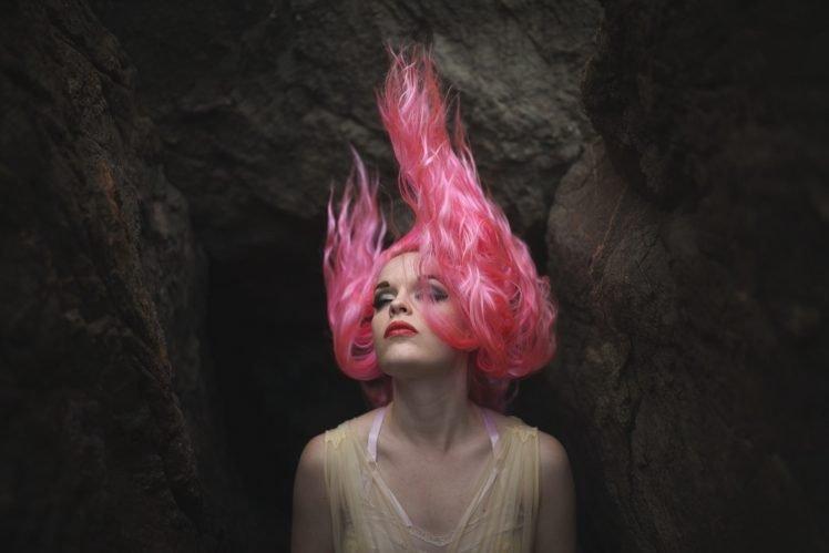 model, Women, Pink hair HD Wallpaper Desktop Background