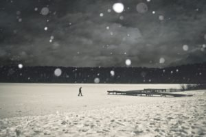 landscape, People, Winter, Snow