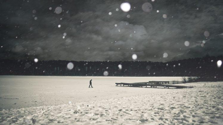 landscape, People, Winter, Snow HD Wallpaper Desktop Background