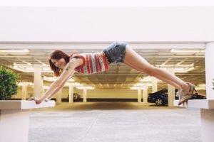 women, Model, Bree Daniels, Short shorts, Tattoo