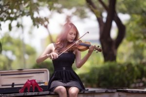 women, Asian, Violin