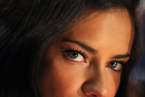 Adriana Lima, Brunette, Looking at viewer, Women, Model, Blue eyes