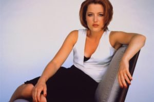 Gillian Anderson, Redhead, Women, Actress, Looking at viewer