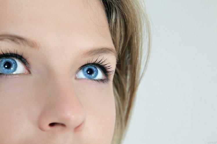 Catherine A., Women, Blonde, Blue eyes HD Wallpaper Desktop Background