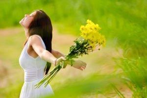 women, Flowers, Women outdoors
