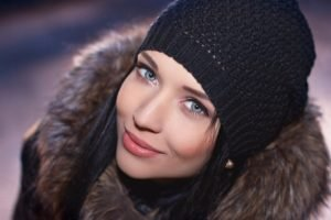 women, Blue eyes