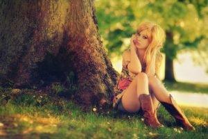 women, Blonde, Filter