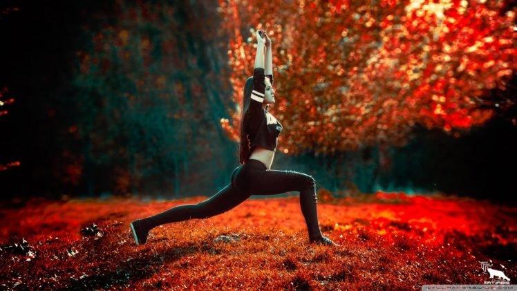 women, Exercise, Brunette HD Wallpaper Desktop Background