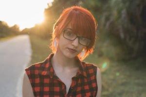 redhead, Tuxie Suicide, Plaid, Glasses, Suicide Girls