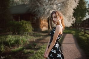 women, Model, Brunette, Dress, Villages, Georgiy Chernyadyev