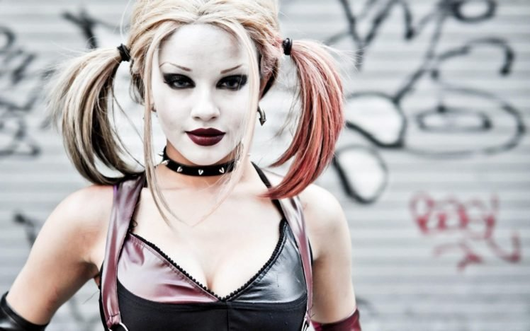Harley Quinn, Batman, Joker, DC Comics, Cosplay HD Wallpaper Desktop Background