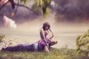 women, Nature, Model