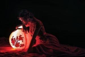 women, Asian, Model, Lantern