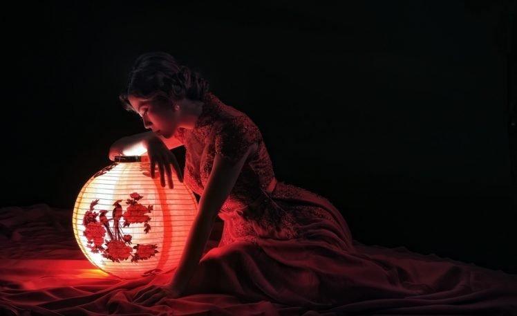 women, Asian, Model, Lantern HD Wallpaper Desktop Background