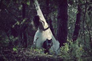 women, Model, Forest