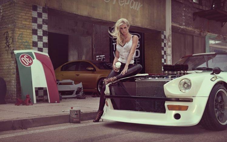 car, Women HD Wallpaper Desktop Background
