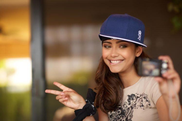 Nataniele Ribiero, Smiling, Brunette, Model, Selfies HD Wallpaper Desktop Background