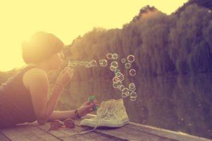 women, Bubbles