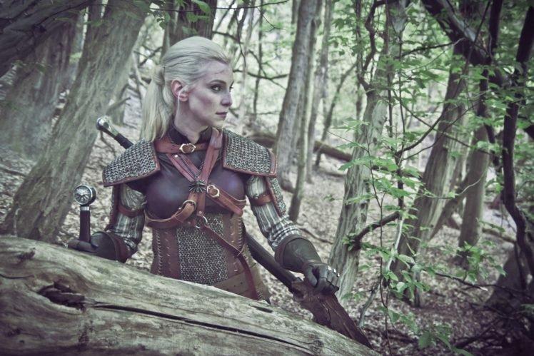 The Witcher, Cosplay, The Witcher 3: Wild Hunt, Sword, Alzbeta Trojanova HD Wallpaper Desktop Background