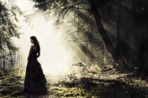 nature, Women, Model, Lights