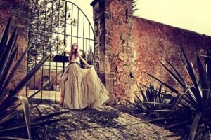 women, Model, Walls, Gates