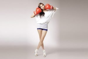 women, Model, South Korea, Boxing gloves