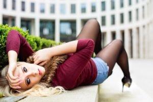 women, Model, High heels, Jeans, Blonde, Women outdoors