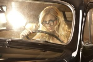 Ancilla Tilia, Model, Women, Car, Black cars, Glasses