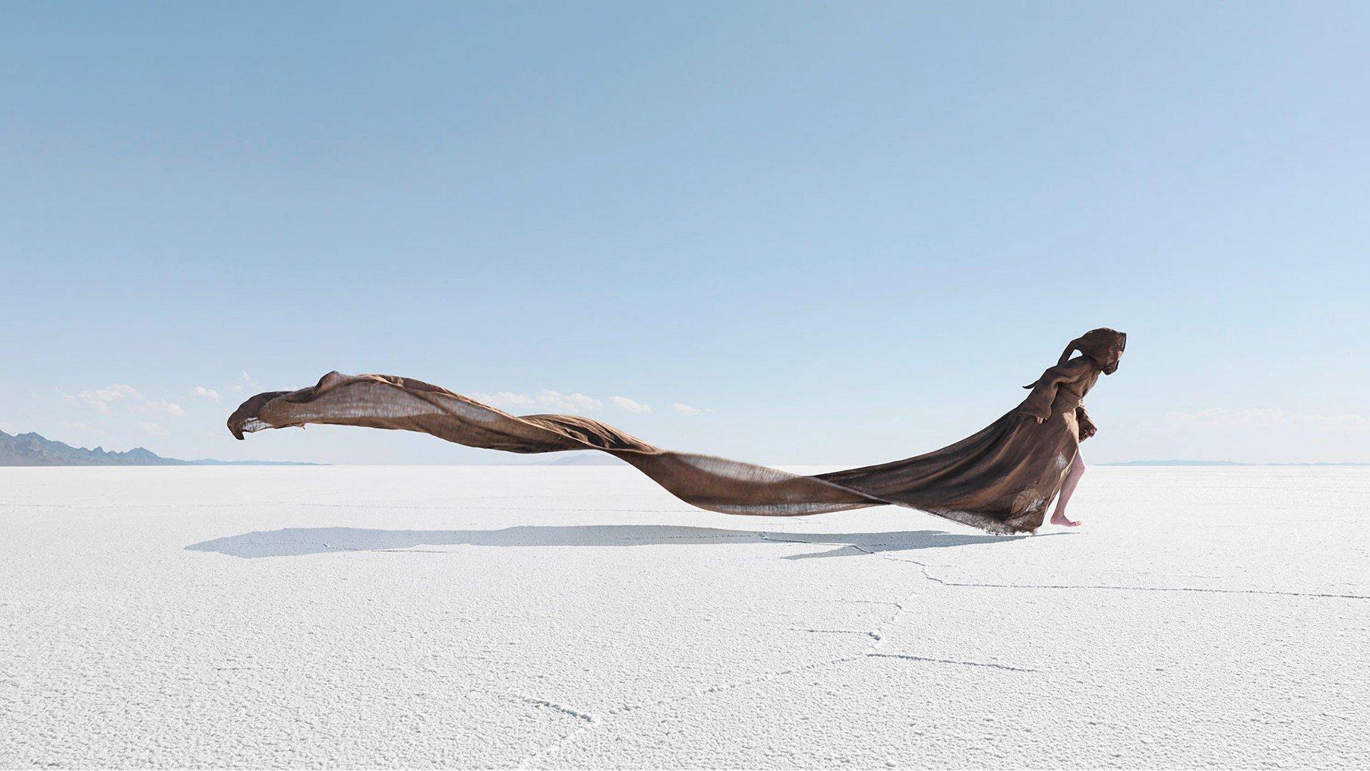 People, Sea, Beach, Barefoot, Sand, Windy, Horizon Hd -5104