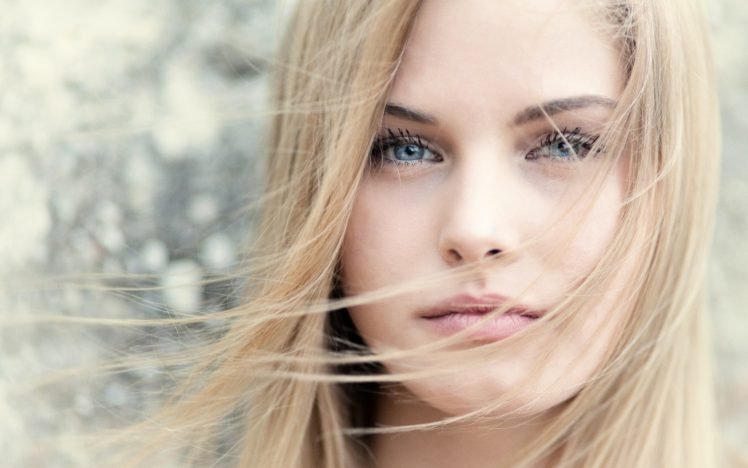model, Blonde, Blue eyes HD Wallpaper Desktop Background