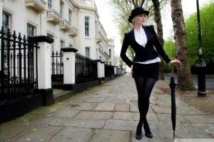 women, Model, Umbrella, Hat, Street, London
