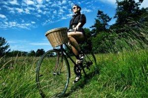 model, Women, Bicycle, Nature, Glasses