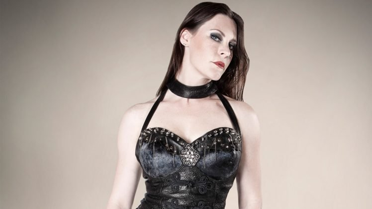 Floor Jansen, Nightwish, Women, Leather clothing, Brunette, Singer HD Wallpaper Desktop Background